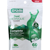GUM Flossers, Fresh Mint, Complete Whole Mouth Clean