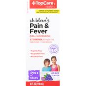 TopCare Pain & Fever, 160 mg, Grape Flavor, Children's