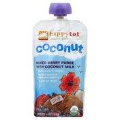 Happy Tot Mixed Berry Puree, with Coconut Milk