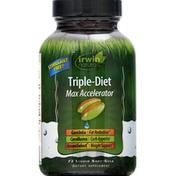 Irwin Naturals Triple Diet Max Accelerator, Liquid Soft-Gels