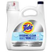 Tide Hygienic Clean Heavy Duty 10X Free Liquid Laundry Detergent, Unscented