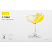 True Cocktail Glasses, Coupe, 7 Ounce