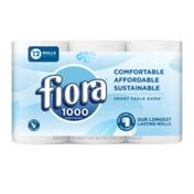 Fiora Bath Tissue, 1000-sheets per roll, 1 ply