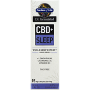 Garden of Life Whole Hemp Extract, CBD + Sleep, Liquid Drops