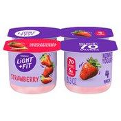 Light + Fit Nonfat Gluten-Free Strawberry Yogurt