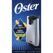 Oster Can Opener with Knife Sharpener, Tall