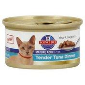 Hill's Science Diet Cat Food, Premium, Mature Adult, Tender Tuna Dinner