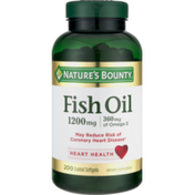 Nature's Bounty Fish Oil 1200mg Dietary Supplement Softgels - 200 CT