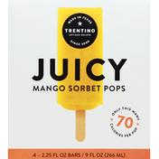 Trentino Sorbet Pops, Juicy, Mango