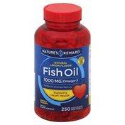 Nature's Reward Fish Oil, 1000 mg, Natural Lemon Flavor, Quick Release Softgels