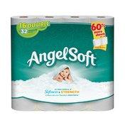 Angel Soft Toilet Paper, 16 Double Rolls, Bath Tissue