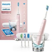 Philips Sonicare DiamondClean Smart Electric, Rechargeable toothbrush for Complete Oral Care, with Charging Travel Case, 5 modes – 9500 Series, Pink, HX9924/21