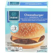 @ Ease Cheeseburger Fully Cooked Seasoned Beef Patty With Process American Sharp Cheese On A Sesame Bun Sandwich