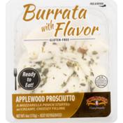 Formaggio Burrata, Gluten Free, Applewood Prosciutto, Carton