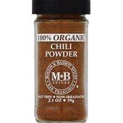 Morton & Bassett Spices Chili Powder, 100% Organic