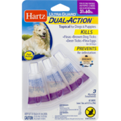 Hartz Ultra Guard Dual Action Topical for Dogs & Puppies Kills & Prevents Fleas & Ticks