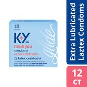 K-y® Condoms, Extra Lubricated Latex Condoms, Ultra Thin, Extra Lubrication for Comfort & Smoothness