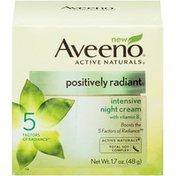 Aveeno Positively Radiant® Intensive Night Cream Facial Moisturizers