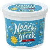 Nancy's Yogurt, Plain, Greek, Organic, Tub