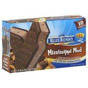 Blue Bunny Ice Cream Sandwiches, Mississippi Mud
