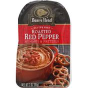 Boar's Head Hummus & Pretzels, Roasted Red Pepper, Gluten Free