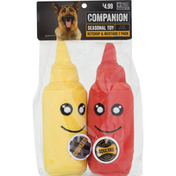 Companion Seasonal Toy, Ketchup & Mustard, for Dogs, 2 Pack