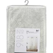 No 918 Window Panel, Alison, Ivory, 84 Inch