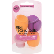Real Techniques Sponges, Miracle, Face + Eye + Cheek, Value Pack