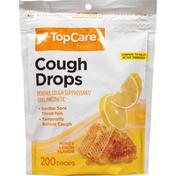 TopCare Cough Drops Menthol Suppressant/Oral Anesthetic, Honey Lemon