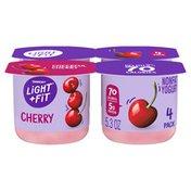 Light + Fit Nonfat Gluten-Free Cherry Yogurt