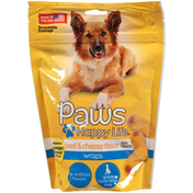 Paws Happy Life Beef & Cheese Flavor Wraps Dog Treats