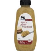 Food Lion Mustard, Brown, Spicy, Bold, Bottle