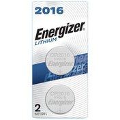 Energizer 2016 Batteries, 3V Lithium Coin Batteries