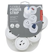 Kikkerland Power Strip, Flexible, with 4 Outlets