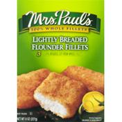 Mrs. Paul's Lightly Breaded Flounder Fillets - 3 CT