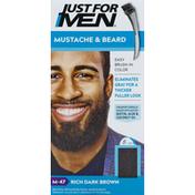 Just For Men Mustache & Beard, Rich Dark Brown M-47