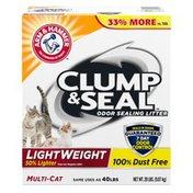 Arm & Hammer Clump & Seal Lightweight Multi-Cat Litter,