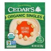 Cedar's Foods Organic Original Hommus Singles