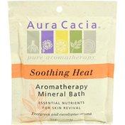 Aura Cacia Soothing Heat Aromatherapy Mineral Bath, Evergreen & Eucalyptus Aroma