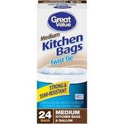 Great Value Medium Twist Tie 8 Gallon Kitchen Bags