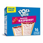 Kellogg's Pop-Tarts Toaster Pastries, Breakfast Foods, Baked in the USA, Frosted Raspberry
