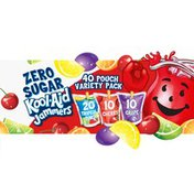 Kool-Aid Jammers Tropical Punch, Cherry & Grape Zero Sugar Artifically Flavored Soft Drink Variety Pack