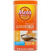 Metamucil SuperFiber Supplement Powder, 100% Natural Psyllium Fiber, Orange Flavored