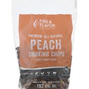 Fire & Flavor Smoking Chips, Peach, Premium