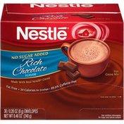 Nestle Hot Cocoa No Sugar Added Rich Chocolate NESTLE No Sugar Added Rich Chocolate Hot Cocoa Mix