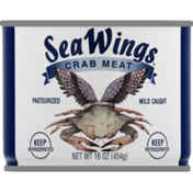 Sea Wings Crab Meat, Lump, Can