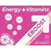 EBOOST Energy + Vitamins EBOOST Energy Powder Pink Lemonade Packets - 20 CT
