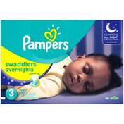 Pampers Swaddlers Overnights Pampers Swaddlers Overnights Diapers Size 3 72 Count Diapers