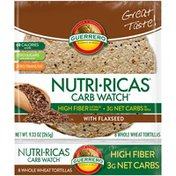 Guerrero Nutri-Ricas Carb Watch Whole Wheat Tortillas with Flaxseed