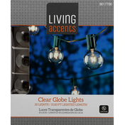 Living Accents Globe Lights, Clear
